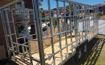 The Joy Box Tiny Home Takes Shape