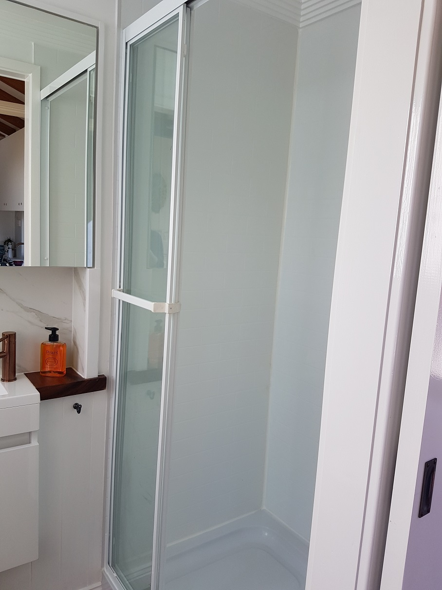 claybuild tiny home shower newcastle nsw